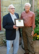 Oswald Da Ros (left) with SB Conservancy President Donald G. Sharpe.